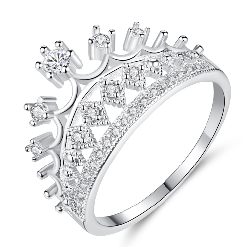 EVBEA Crown Ring für Frauen Weißgold plattiert Princess Crown Promise Ringe mit Diamanten Schmuck für Frauen mit Geschenkbox